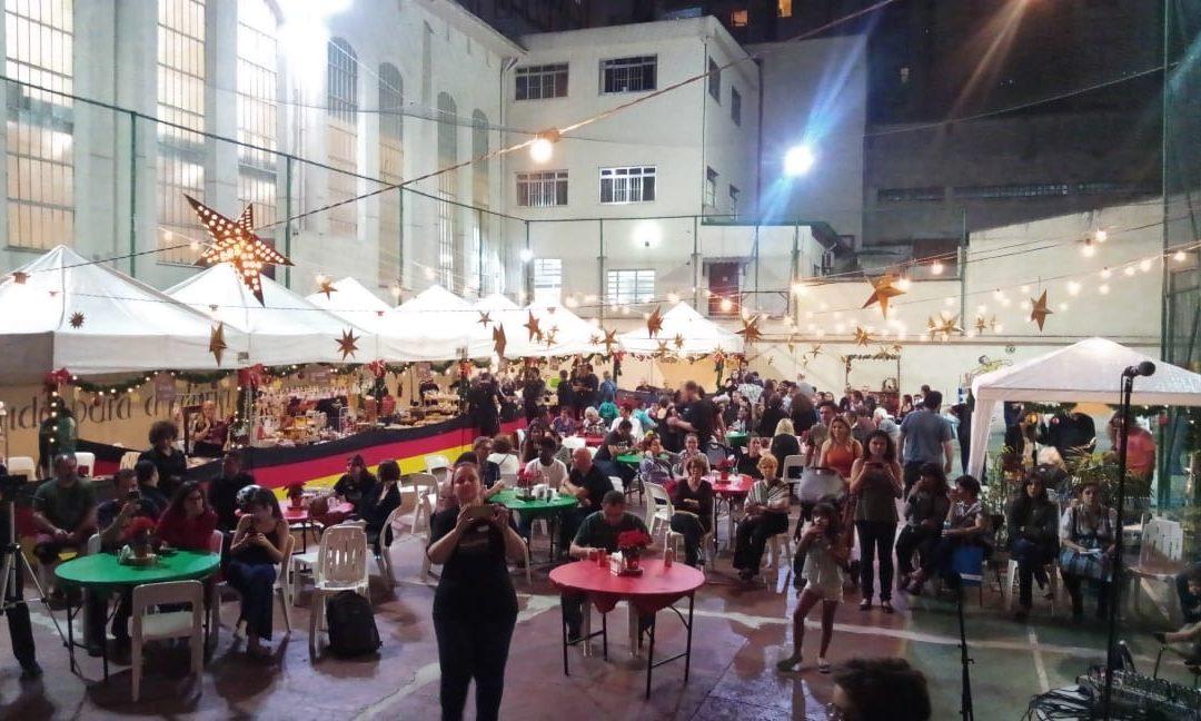 Feira de Natal no centro de São Paulo